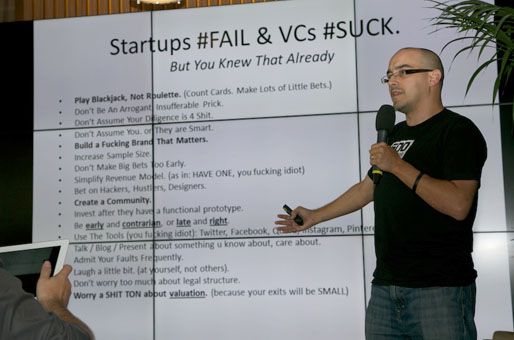 Startups and Investors: Lots of little bets (Dave Mc Clure)